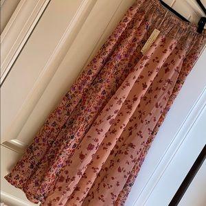 Lovestitch Mix Floral Print Maxi Skirt